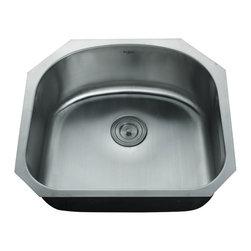 Kraus - Kraus KBU10-KPF2160-SD20 23 inch Undermount Single Bowl Stainless Steel Sink - Add an elegant touch to your kitchen with unique Kraus kitchen combo