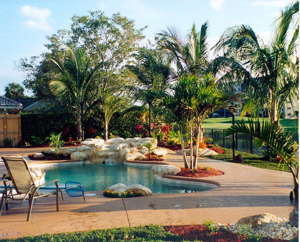 Tropical Pool by Universal Landscape, Inc.
