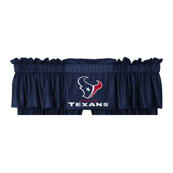 Sports Coverage - NFL Houston Texans Football Logo Locker Room Valance - FEATURES:
