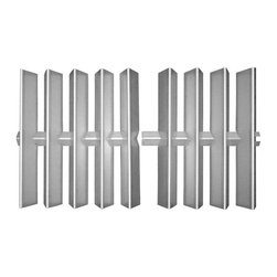 "Music City Metals - stainless steel heat plate; Weber; 15.875"" x 28.875"" - heat shielding - heat plate for Weber made of stainless steel  Replacement part for propane gas bbq and barbeque grills  Replacement part for propane gas bbq and barbeque grills"