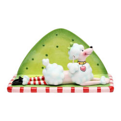 "ATD - 6.5 Inch Multicolored ""Ruby the Poodle"" Holiday Themed Napkin Holder - This gorgeous 6.5 Inch Multicolored ""Ruby the Poodle"" Holiday Themed Napkin Holder has the finest details and highest quality you will find anywhere! 6.5 Inch Multicolored ""Ruby the Poodle"" Holiday Themed Napkin Holder is truly remarkable."
