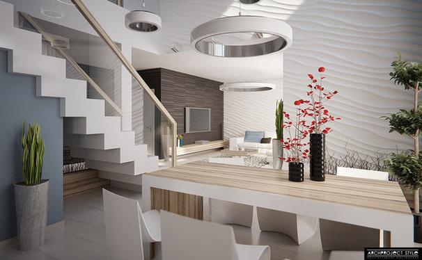 Contemporary Rendering Contemporary Family Room