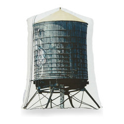 Handmade Water Tower Throw Pillow - If you've ever been to New York, you may have noticed these wooden water towers scattered about rooftops. While technology has greatly improved, these towers still remain in use for local residents. Bring a piece of iconic New York into your home with this handmade throw pillow; it's an original photo that's been printed on gorgeous cotton sateen.