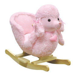 Charm Co. - Mitzi Poodle Rocking Chair - Mitzi will be your daughter's new best friend. With the sturdy hardwood rocker base, handles and the high seat back, you can be sure your little one is secure when riding. She'll love the soft blanket-like fabric, gingham bows and adorable heart collar.