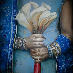 "Jeni Tomlinson - painting, ""The Wedding Dress"" acrylic on canvas painted 2014 - painting, ""The Wedding Dress"" acrylic on canvas painted 2014"
