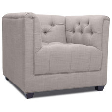 Modern Chairs Grand Grey Deluxe Arm Chair