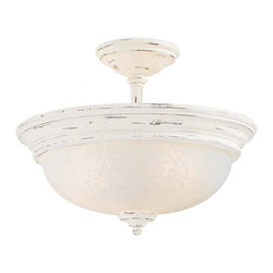 Minka-Lavery - Minka-Lavery Accents Provence 3 Light Semi-Flush - 1298-648 - This Three Light Bowl Semi-Flush Mount has a White Finish and is part of the Accents Provence Collection.