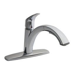 """American Standard - American Standard 4101.100.075 Stainless Steel Arch Arch Pullout - Product Features:Fully covered under American Standard s limited lifetime faucet warrantyForged from the highest quality brass alloySuperior finishing process - finishes are covered under limited lifetime warrantyEngineered to look beautiful and function flawlesslyWith a drip-free performance this faucet is built to lastInsulated pullout spray faucet head with 48"""" hoseMulti-function spray / stream spray wandSmooth single handle operationSpout swivels 180 degrees to allow for unobstructed sink accessHigh-arch gooseneck spout further allows for unobstructed sink accessIncludes optional cover plate (escutcheon) - for use with sinks that have 3 faucet holesADA compliantLow lead compliant - complies with federal and state regulations for lead contentDesigned to easily connect to standard U.S. plumbing supply bibsUltra secure mounting assemblyAll necessary mounting hardware includedProduct Technologies:Lifetime Warranty: As an American company, American Standard faucets are built tough. Their products live longer in one place than most people do. Drip-free ceramic disc valves, high-grade lead-free brass alloys, and stainless steel drain cables name just a few of the features which make American Standard bathroom faucets the industryÂ's longest lasting. To back this up, all American Standard faucets are covered under a lifetime warranty. Indestructible Finishes: Through employing only the best finishing practices, such as physical vapor deposition, American Standard faucet finishes are some of the strongest in the industry. When the finish is actually incorporated into the faucet, rather than a coating on the outside, the result is a flawless appearance that eliminates tarnishing, pitting, and peeling while hiding scratches. F"""