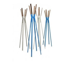 Blu Dot Splash Coat Rack - Because your coat wants to feel modern too! These bright colored coat racks look like an assemblage of oversized Pick-Up Stix. Even unadorned with outerware, they stand out on their own.