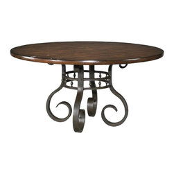 "EuroLux Home - New Round Jardin Garden Table, Thick Cherry Veneer, 28.5"" High - Product Details"
