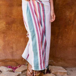 Nine Space Marcel Beach Wrap - A modern update for the traditional fouta towel, this Nine Space Marcel Beach Wrap is a striped beauty. Its hand-tied tassels and colorful striped palette create the look. The 100% Turkish cotton construction becomes even softer and more absorbent with each wash, making this your favorite beach accessory. Versatile, too, you'll use your beach wrap as a blanket, classic towel, or even a quick table covering. About Pure Fiber International:Pure Fiber began with a philosophy that the desire for comfort and caring about the environment don't have to be mutually exclusive. Since they created their first 100% bamboo terry towel and bathrobe, they have become a leading supplier of bed and bath products that are both luxurious and eco-friendly. Their products are featured at hundreds of luxury resorts, boutique hotels, and other upscale destinations, and they continue to produce plush robs and absorbent towels that will make you feel great inside and out. Whether it's a 100% bamboo robe, or a towel made from a blend of bamboo and soft organic cotton, you'll love the feel of Pure Fiber.