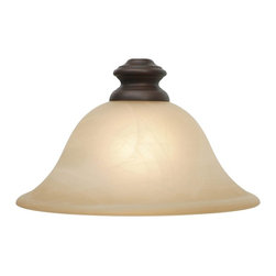 Golden Lighting - Lancaster RBZ Antique Marble Glass Shade - Neckless glass shade. Fitter hole from 1.5 to 1.75 in.. 9.5 in. Dia. x 4 in. H. Warranty