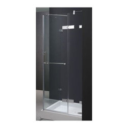 Vigo Industries - 32 in. Frameless Clear Glass Shower Enclosure with Base - Give your bathroom a totally new look with this uniquely stylish and totally frameless Vigo square-shaped shower enclosure with base.