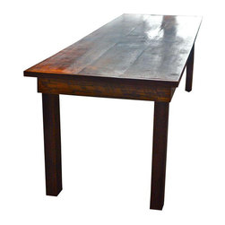Large 8' Reclaimed Wood Farm Table - $2,100 Est. Retail - $1,900 on Chairish.com -
