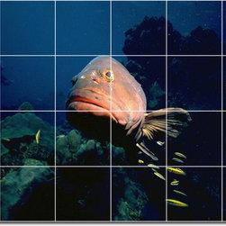 Picture-Tiles, LLC - Sea Life Photo Ceramic Tile Mural 30 - * MURAL SIZE: 24x36 inch tile mural using (24) 6x6 ceramic tiles-satin finish.