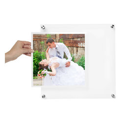 Wexel Art - BeSquare Floating Acrylic Wall Frame 14x14 - NOTE: Photos not included.