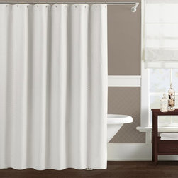 Other Brands - Lamont Home Diamante Shower Curtain - LBSC091650 - Shop for Shower Curtains from Hayneedle.com! Add subtle yet luxurious style to your bathroom with the Lamont Home Diamante Shower Curtain. Available in your choice of lovely neutral colors this 100% cotton curtain will bring a sophisticated look and feel to your master or guest bathroom. Convenient easy-to-use button holes make hanging this curtain with rings or hooks a breeze. Measures 72 x 72 in. and fits most standard showers.