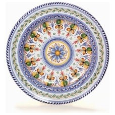 "Daisy Center 13"" Majolica Decorative Plate"