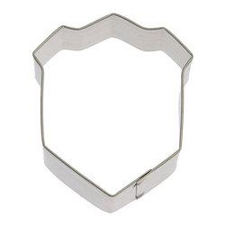 "HOF - Sheild Badge 3 In. B1482 - Sheild Badge, Tin Plate Steel, Size: 3"", Depth 7/8"", Color: Silver"