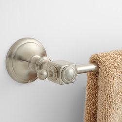 Vintage Towel Bar - Crafted of solid brass, the Vintage Collection Towel Bar features tiered mounting brackets that will make a stunning addition to your bathroom decor.