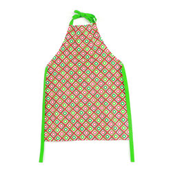DEI - Red & Green Diamond Market Apron - Protect your holiday outfit from spills and spurts with this comfy cotton apron. �� 27'' W x 36'' H Cotton Machine wash Imported