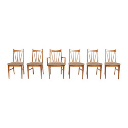 Willett Furniture Co. - Consigned Mid Century Modern Willet Walnut Spindle Dining Chairs - • Mid Century Modern