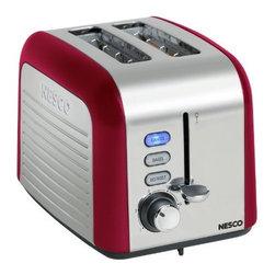 NESCO - Nesco T1000-12 2-Slice Toaster (Red/Chrome) - 100W