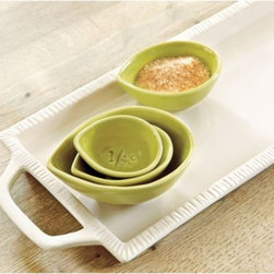 Southern Living Nesting Cups - I love the soft green of this set of hand-thrown nesting cups. Use them traditionally or to keep ingredients on hand while cooking.
