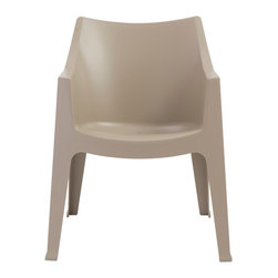 Eurostyle - Coccolona Stacking Armchair (Set of 4) - Dove Gray - Recyclable polypropylene
