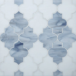 Glass mosaic - Arabesque glass mosaic. Great for a kitchen or bar splash. Choose from bold or more muted colors to suit your space.
