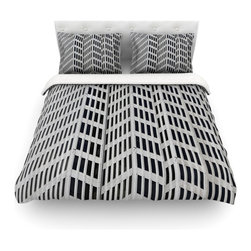 """Kess InHouse - Maynard Logan """"The Grid"""" Cotton Duvet Cover (Queen, 88"""" x 88"""") - Rest in comfort among this artistically inclined cotton blend duvet cover. This duvet cover is as light as a feather! You will be sure to be the envy of all of your guests with this aesthetically pleasing duvet. We highly recommend washing this as many times as you like as this material will not fade or lose comfort. Cotton blended, this duvet cover is not only beautiful and artistic but can be used year round with a duvet insert! Add our cotton shams to make your bed complete and looking stylish and artistic! Pillowcases not included."""
