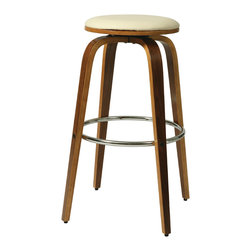 Pastel Furniture - Yohkoh Barstool - The contemporary Yohkoh Barstool has a simple yet elegant design that is perfect for any decor. An ideal way to add a touch of modern flair to any dining or entertaining area in your home. This barstool features a quality frame with sturdy legs and foot r