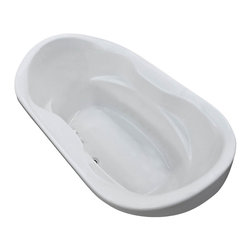 Arista - Giotto 41 x 70 Oval Soaking Drop-In Bathtub - Soaker Tub with Center Drain - DESCRIPTION