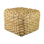 Seagrass Cube - Incredibly durable, renewable, and rich in tonal variation, seagrass is ideal for relaxed living spaces such as covered porches, patios and sunrooms. These versatile cubes function as a foot rest, ottoman, or extra table!