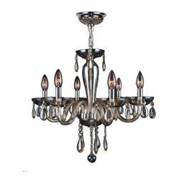 Worldwide Lighting - Worldwide Lighting W83128C22-GT Gatsby 6 Light Candle Style Crystal Chandelier - Features: