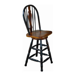 Windsor Arrowback Swivel Counter Stool Bar Stools