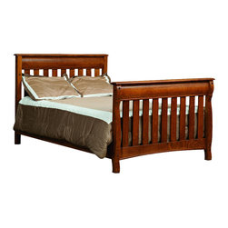 Chelsea Home Furniture - Chelsea Home Cambridge Crib with Full Size Rails in Asbury Brown Stain - As children go through stages as they grow, so should their furniture. The Cambridge Convertible Crib Set, shown in White Quartersawn Oak and Asbury Brown stain, is a solid wood 3-stage bed system that is constructed with quality and durability to transition any newborn into adulthood with simplistic sophistication. The curved slats and feet compliment the stream line sides of crib. This CPSC 16 CFR 1219 and 1220 compliant convertible piece is complete with guard rail and 3-level mattress support, and simple transition instructions to keep your child resting easy and comfortable. Chelsea Home Furniture proudly offers handcrafted American made heirloom quality furniture, custom made for you. What makes heirloom quality furniture? It's knowing how to turn a house into a home. It's clean lines, ingenuity and impeccable construction derived from solid woods, not veneers or printed finishes over composites or wood products _ the best nature has to offer. It's creating memories. It's ensuring the furniture you buy today will still be the same 100 years from now! Every piece of furniture in our collection is built by expert furniture artisans with a standard of superiority that is unmatched by mass-produced composite materials imported from Asia or produced domestically. This rare standard is evident through our use of the finest materials available, such as locally grown hardwoods of many varieties, and pine, which make our products durable and long lasting. Many pieces are signed by the craftsman that produces them, as these artisans are proud of the work they do! These American made pieces are built with mastery, using mortise-and-tenon joints that have been used by woodworkers for thousands of years. In addition, our craftsmen use tongue-in-groove construction, and screws instead of nails during assembly and dovetailing _both painstaking techniques that are hard to come by in today's marketplace. And with a wide array of stains available, you can create an original piece of furniture that not only matches your living space, but your personality. So adorn your home with a piece of furniture that will be future history, an investment that will last a lifetime.