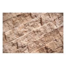 """Tiles R Us - Ivory (Light) Travertine 1 X 2 Split Face Mosaic Tile, 1 Sq. Ft. - - Ivory (Light) Travertine Premium Quality 1"""" X 2"""" Split Face Mosaic Tile."""
