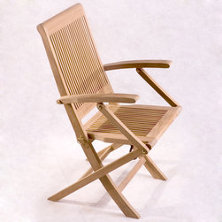 Be Furnished - Lahaina Folding Teak Armchair (BF-AC01ss) - Lahaina Folding Teak Armchair (Set of 2) by Anderson�ۢ The Lahaina Folding Teak Armchairs are strong, durable and versatile armchairs made out of Grade A teak wood.