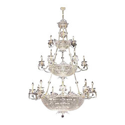 James R Moder - 94115S22-88 James R Moder Princess Chandelier - In most designs, the major cost of a Crystal Chandelier is the price of the Crystal components. The quantity and shapes of the Crystal utilized to trim the Chandelier and most importantly, as in grades of diamonds, the crystal quality determines the price. James R Moder  Crystal offers IMPERIAL Crystal trim