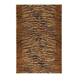 """Karastan - Animal Inspirations Carmel Hallway Runner 2'4""""x8'3"""" Runner Chestnut Beige-Dark B - The Carmel area rug Collection offers an affordable assortment of Animal Inspirations stylings. Carmel features a blend of natural Chestnut Beige-Dark Brown color. Machine Made of Nylon the Carmel Collection is an intriguing compliment to any decor."""