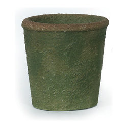 Textured Green Pot, Large - Handcrafted clay pottery