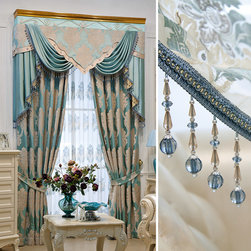 Customized Curtains in Blue Color -
