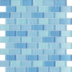 Vintrav Steel Blue 1 in. x 2 in. Glass Mosaic Tiles, Sheet - Vintrav Steel Blue 1 in. x 2 in. Glass Mosaic Tiles for Bathroom Floor, Kitchen Backsplash, unmatched quality.