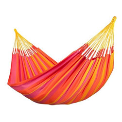 Home Decorators Collection - Sonrisa Hammock - Our Sonrisa Hammock can be left outside all summer. It's made of fast-drying HamacTex®, a weatherproof fiber that is surprisingly similar to cotton in look and feel. Weatherproof. Fits our Scandinavian Spruce Hammock Stand, sold separately. Can also be hung using our Hammock Hardware Kit, sold separately.
