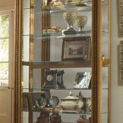 Pulaski - 80 in. Curio Cabinet with Two-Way Sliding Door - Finish: Estate Oak