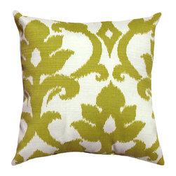 Land of Pillows - Richloom Solarium Basalto, Kiwi, 16x16 - Fabric Designer - Richloom Solarium