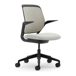 Steelcase - Steelcase Cobi Chair, Black Frame w/Arms & Soft Castors, Coconut - Is your office ready to handle a touch of brilliance? This chair is designed according to longstanding research observation for complete flexibility and comfort over long periods of time. It also comes in an outstanding array of beautifully creative colors, all supported on a solid black base.