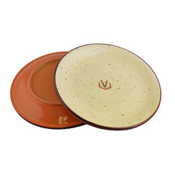 Vita Casalinga - Classic Terra-Cotta Salad/Dessert Plate - Serve up a plateful of Italian charm at your next dinner party. Made in Lucca from exquisite Umbrian clay, this delightful dish has classic good looks that are equally elegant serving salad or dessert.