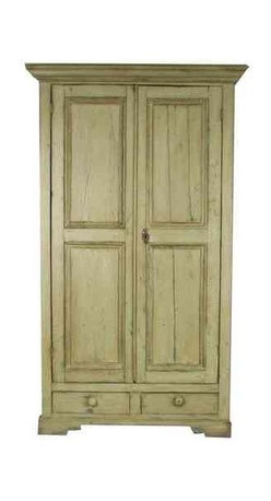 Early 19th Century American Two-Door Cupboard - Dimensions 48.0ʺW × 24.5ʺD × 83.0ʺH